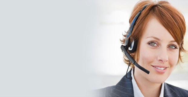 Businesswoman Wearing Phone Headset