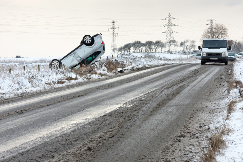 Picture taken of a Seat car crash that took place on Seaton Road, next to the old army dump at Broughton Moor