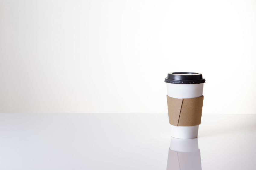 paper take away cup shot in the studio